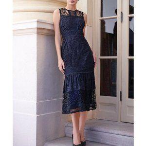 NWT Antonio Melani Betty Lace Midi Dress